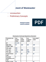 Treatment of Wastewater Introduction