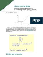 Definicion Formal Del Limite