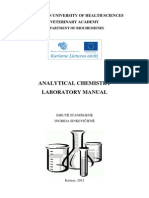 Analytical Chemistry Laboratory Manual