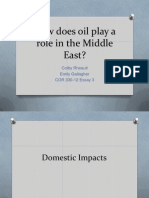 Gallagher Essay 3 Middle Eastern Oil