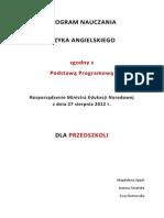 Program Nauczania Dla Przedszkoli Macmillan 2012
