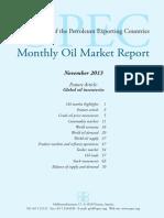 Reporte Mensual Mercado Petrolero Noviembre 2013 (OPEP)