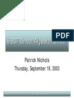 5 2 Lin Algebra
