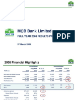 MCB Bank Limited 2008 IR Presentation