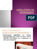 Legislations on Environment