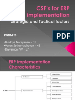 CSF s for ERP Implementation