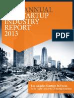 LA Startup Industry Report 2013