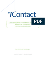 Calculating Social Media ROI