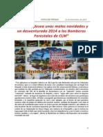 GEACAM desea unas malas navidades y un desventurado año 2014 a los/as Bomberos/as Forestales de CLM