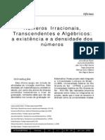 167-165-1-PB números irracionais trancendentes e algébricos