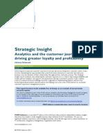 Analytics Strategic Insight Analytics and the Customer Journey