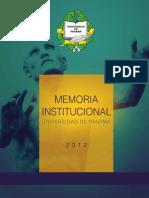 Universidad de Panama Memoria Institucional Del 2012