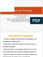 Apresentação Planejamento Agregado - Administracao