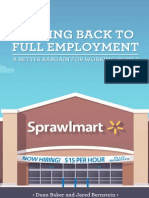 Getting Back to Full Employment - A Better Bargain for Working People - By Dean Baker