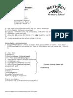 Sen Stationery List 2014