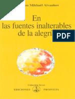 En Las Fuentes Inalterables de La Alegria - Aivanhov Omraam Mikhael