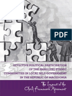 Effective political participation on the small(er) ethnic communities in local self-government in the Republic of Macedonia