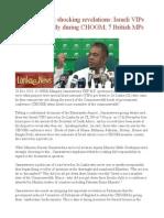 Mangala makes shocking revelations  Israeli VIPs got down secretly during CHOGM  7 British MPs 'bribed'