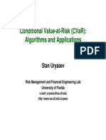 CVaR Algo Et Application