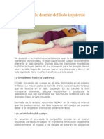 Beneficios de Dormir Del Lado Izquierdo