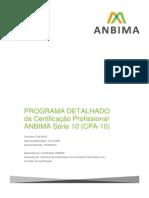 Programa Detalhado CPA10