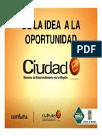 De La Idea a La Oportunidad