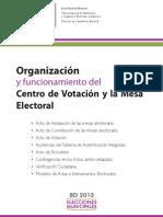 Rotafolio Organización y funcionamiento del Centro de Votación y la Mesa Electoral DEFINITIVO