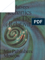 Matveev Mechanics and Theory of Relativity