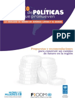 GENERO Costeo Politicas Publicas 2013