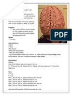 Cable and Eyelet Hat Pattern