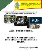 ESTRATEGIAS DE COMPRENSIÓN Y PRODUCCIÓN I