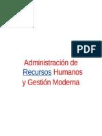 GESTIÓN DE RECURSOS HUMANOS - GESTION MODERNA