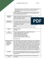 lesson plan form reading summary