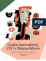 Genios Innovadores, CEO y futuros líderes - revista empresarial G de Gestión