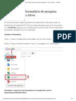 Como criar um formulário de pesquisa usando o Google Drive - Dicas e Tutoriais - TechTudo