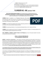 EO 496 - Procedures and Criteria for Selection of Nominees to PRB