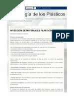 INYECCION DE MATERIALES PLASTICOS II _ Tecnología de los Plásticos