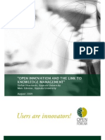 Hrastinski, S. & Edenius, M. (2009). Open Innovation and the Link to Knowledge Management