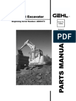 1202 Excavator After Sn AB00473 Parts Manual