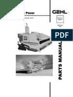 1448 Asphalt Paver Parts Manual