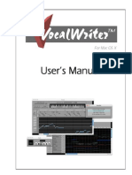 VocalWriter User's Manual
