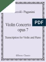 Paganini - Violin Concerto n°2 in B minor Op[1].7 'La Campanella' (Violin solo and piano)