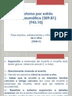 Trastorno por estrés postraumático DSM V