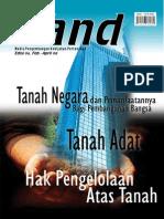 LAND. Media Pengembangan Kebijakan Pertanahan Edisi Feb-Apr 2008. Tanah Negara dan Pemanfaatannya Bagi Pembangunan Bangsa