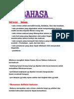 Definisi Bahasa Malaysia
