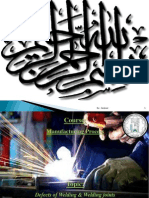 Defects of Welding & Welding Joints