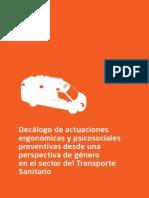 Transporte Sanitario Riesgos Laborales