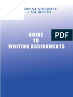 Guide to Writing Assignments