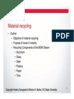 Matl Recycle