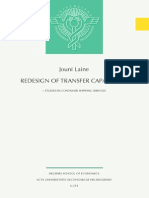Redesign of Transfer Capabilities - Studies in Container Shipping Services